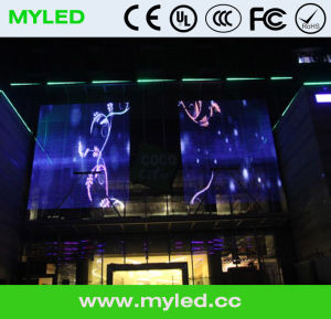 Glass Wall P10mm Transparent LED Display pictures & photos