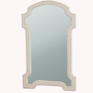 Wall Decor Mirror Frame with Beveled Glass in Natural Wood Finish pictures & photos