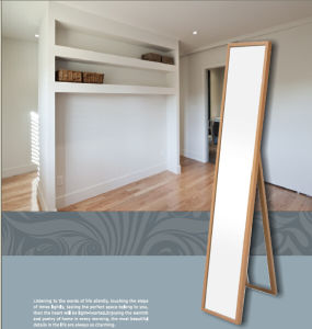 Eco-Friendly Wooden-Like Stand Mirror Frame