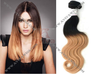 Virgin Ombre Brazilian Hair Weft Extension pictures & photos