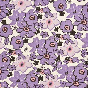 Printed Canvas Fabric with Flower Pattern (YH320)