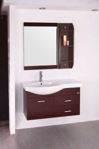 Oak Vanity Sanitary Ware Bathroom Cabinet (W-105)
