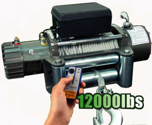 12V Truck Electric Winch with 12000lb Pulling Capacity pictures & photos