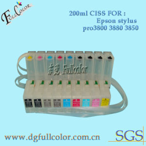 CISS Ink System with Chip Resetter for Epson Stylus PRO 3800 Wide Prmat Printer pictures & photos