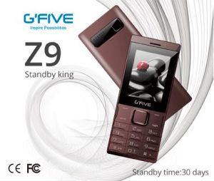 "Gfive Z9 Big Battery Long Standby Cell Phone Mobile Phone Feature Phone Basic Phone 2.4"" Dual SIM Ce FCC Certificated"