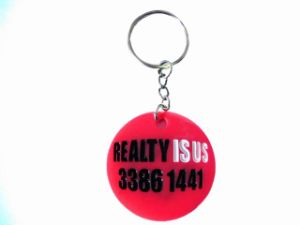 Round Shape PVC Keychain pictures & photos