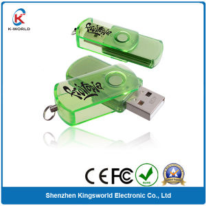 Green Plastic Swivel 4GB USB Flash Memory
