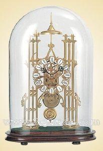 Gilded Copper Skeleton Clock (JGG03A)
