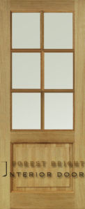 Oak Solid Wood Panel Door (CD-0202)