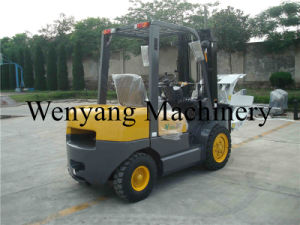 Forklift Attachment 3ton Diesel Forklift with Paper Roll Clamp pictures & photos