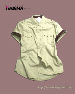 Men′s/Boy′s Fashion Cotton Shirt/Leisure Shirt (MX10-022)