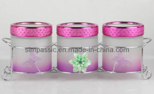 3PCS Frosted&Hand Painting Storage Jar Set (SG1573SJ) pictures & photos