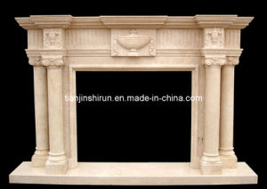Marble Pillar Carving Fireplace (2100) pictures & photos
