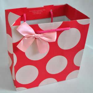 Printed Kraft Gift Paper Bag with Paper Handles pictures & photos
