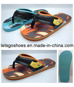 PU V Strap EVA/PE /Rubber flip Flop (22FB042) pictures & photos