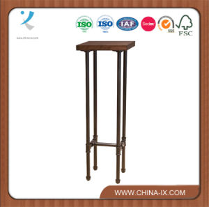Metal Pipe Display Pedestal Stand with H Form Base pictures & photos