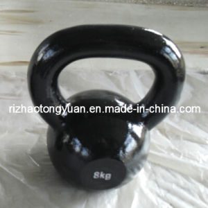 Painted Coating Black Cast Iron Kettlebell pictures & photos