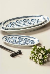 Melamine Oval Plate/Modern Blue Plate/Dinnerware (DCY3508) pictures & photos