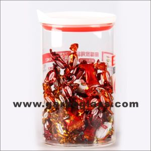 1.8L Big Glass Candy Pot with Cartoon Deal pictures & photos