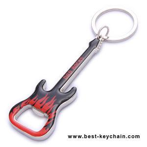 Souvenir Custom Shape Guitar Keychain Metal Bottle Opener (BS11422) pictures & photos