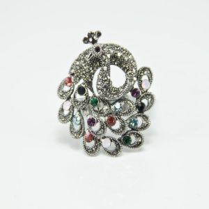 Fashion Jewelry New Style CZ Silver Diamond Rings (O02)