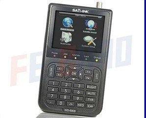 "Satlink Ws-6908 3.5"" LCD DVB-S FTA Handheld Digital Satellite TV Signal Finder (F02008)"
