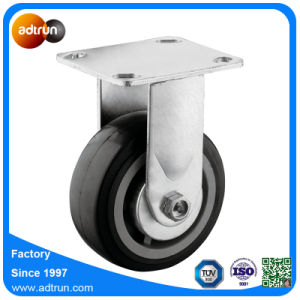 "Heavy Duty 4"" Rigid Plate PU Casters with Ball Bearing Wheels pictures & photos"