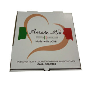 Custom Printing Carton Pizza Box with Free Design pictures & photos