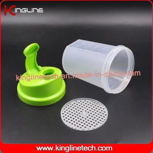 500ml BPA Free Plastic Protein Shaker Bottle with Filter(KL-7012B) pictures & photos