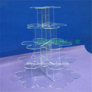 Custom Acrylic 3 Tier Heart Shape Wedding Cake Stand (BTR-K3061) pictures & photos