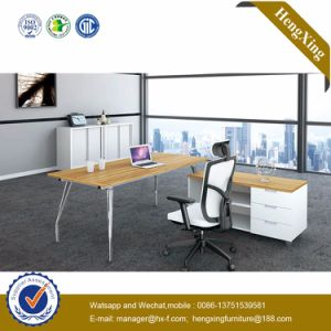 Melamine Laminated L Shape Modern Office Table (HX-NJ5049) pictures & photos