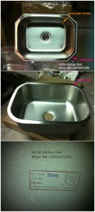 Undermount Single Bowl Stainless Steel Kitchen Wash Basin, Handmade Stainless Steel Sink pictures & photos