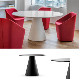 The Price of a Small Large 10′ 48 60 Inches Oval Red White Conference Table for 10 Seats pictures & photos