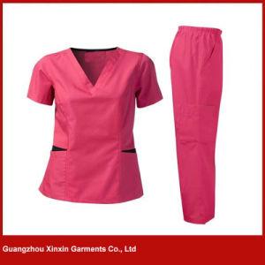 Guangzhou OEM Factory Custom Design Light Blue Hospital Wear (H20) pictures & photos