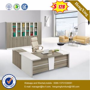 White Lacqure High Glossy Executive Table Wooden Office Furniture (HX-5DE483) pictures & photos
