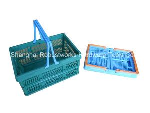 Large Size Folding Plastic Basket (FB004B) pictures & photos
