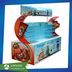 Two Sides Cardboard Recycled Strong Stand Display pictures & photos