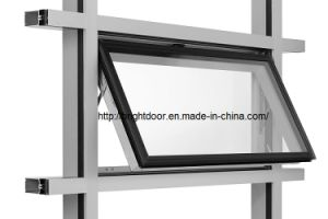 Brief Style Single Glass Soundproof Top Hung Aluminum Window pictures & photos
