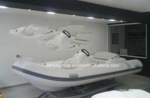 14FT Luxury Rib Boat Yacht Fiberglass Rigid Inflatable Boat pictures & photos
