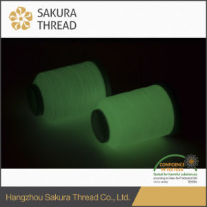 150d/2 Polyester Luminous Thread for Embroidery/Weaving/Knitting pictures & photos