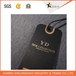 Factory Custom Eco-Friendly Printing Logo Black Hang Tags for Clothing pictures & photos