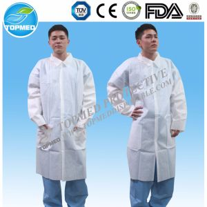 Cheap Nonwoven Polypropylene Lab Coats, Protecting Smock Gown, Medical Disposable Coats pictures & photos