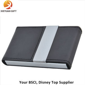 PU Leather Name Card Holder Credit Card Holder Opened pictures & photos
