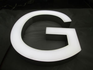Outdoor Indoor Acrylic Aluminum Fabricated 3D Frontlit LED Illuminated Neon Sign Channel Letter pictures & photos
