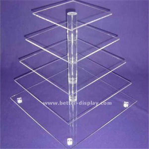 Acrylic Tiered Crystal Wedding Cake Stand (BTR-K3059) pictures & photos