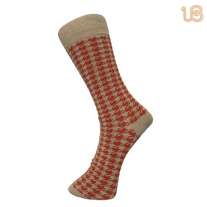 Men′s Mercerized Cotton Socks with Toe Hand Link pictures & photos