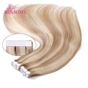 100% European Human Virgin Tape Hair pictures & photos