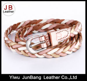 Fashion Ladie′s PU Leather Braid Belt pictures & photos