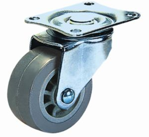 Swivel Wheel Furniture PU Caster (gray) pictures & photos