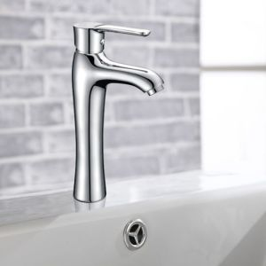Deck Mounted Single Handle Brass Bathroom Faucet
